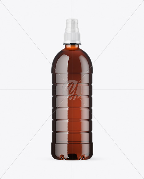 Download Amber Pet Bottle With Sport Cap Mockup In Bottle Mockups On Yellow Images Object Mockups Yellowimages Mockups