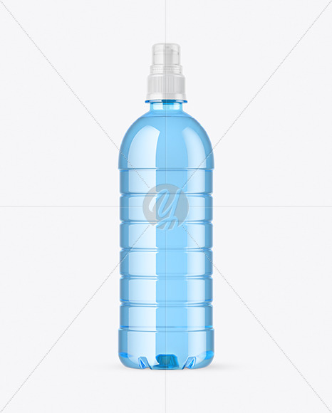 Download Blue Pet Bottle With Sport Cap Mockup In Bottle Mockups On Yellow Images Object Mockups PSD Mockup Templates