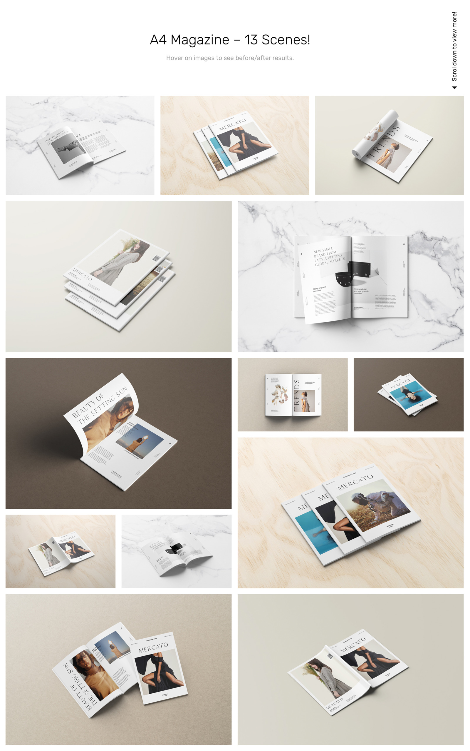Download Magazine Mockups In Product Mockups On Yellow Images Creative Store PSD Mockup Templates