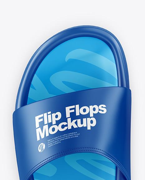 Flip Flops Mockup - Top View