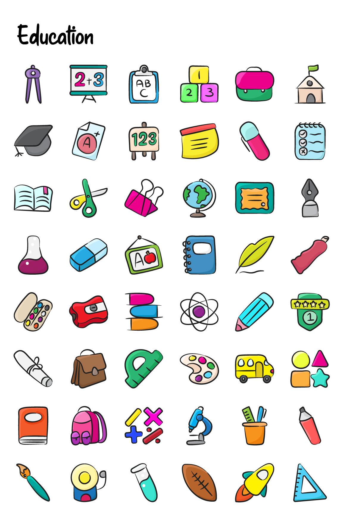 1100+ Flat Hand Drawn Icons