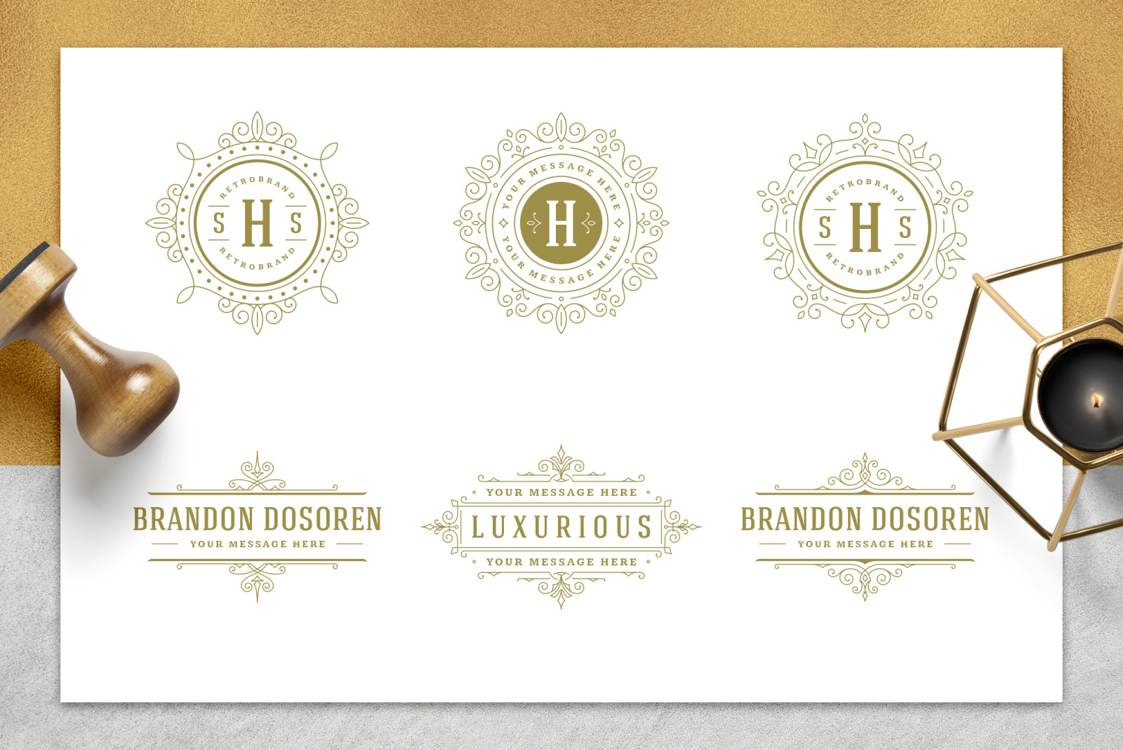36 Luxury Ornament Logos