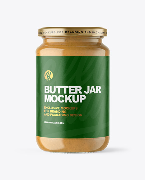 Download Clear Glass Jar With Peanut Butter Mockup PSD - Free PSD Mockup Templates