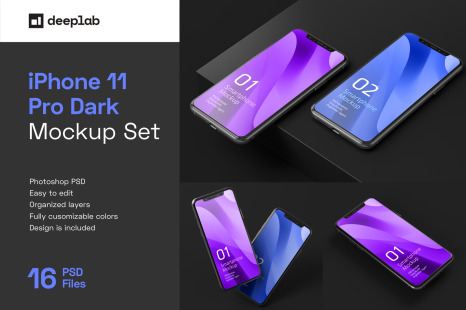 Download Iphone 11 Pro Mockup In Device Mockups On Yellow Images Creative Store PSD Mockup Templates
