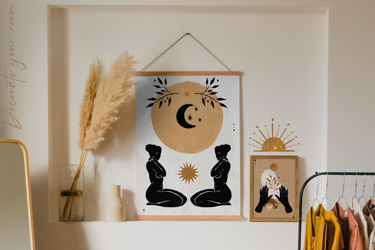 Astro Celestial Feminine Prints