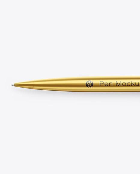 Matte Metallic Pen Mockup