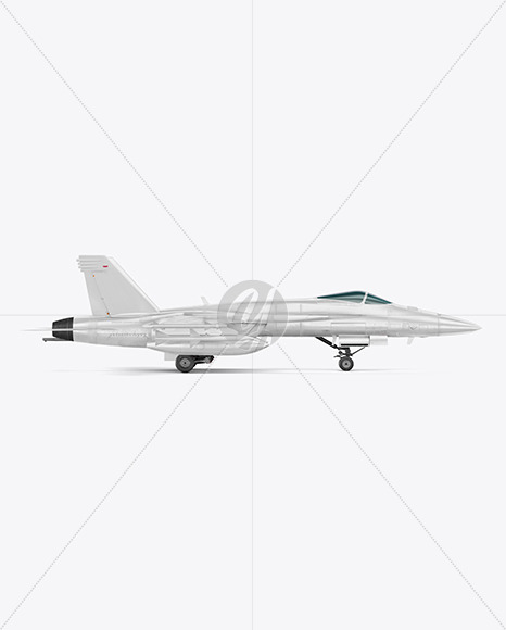 Combat Fighter - Side View - Yellowimages Mockups