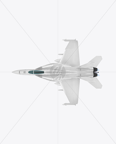 Combat Fighter - Top View - Yellowimages Mockups