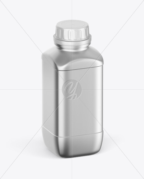 Metallic Bottle Mockup - Half Side View
