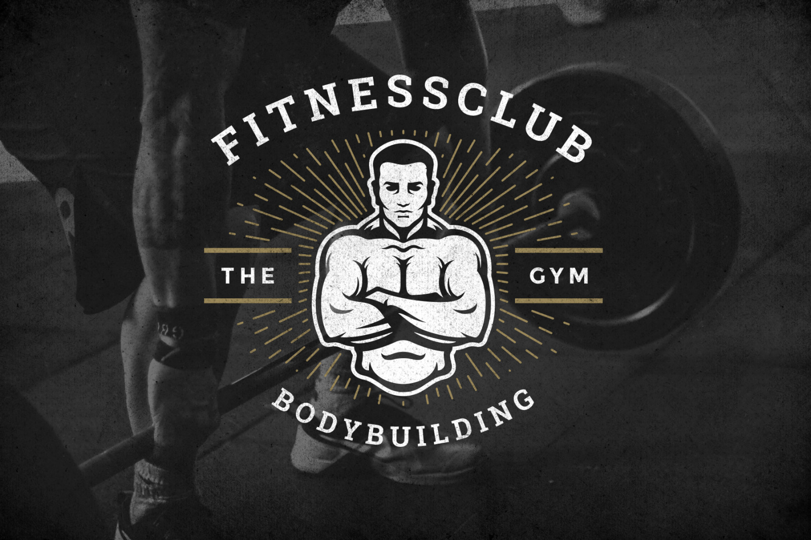 Retro Fitness & Gym Logos Set