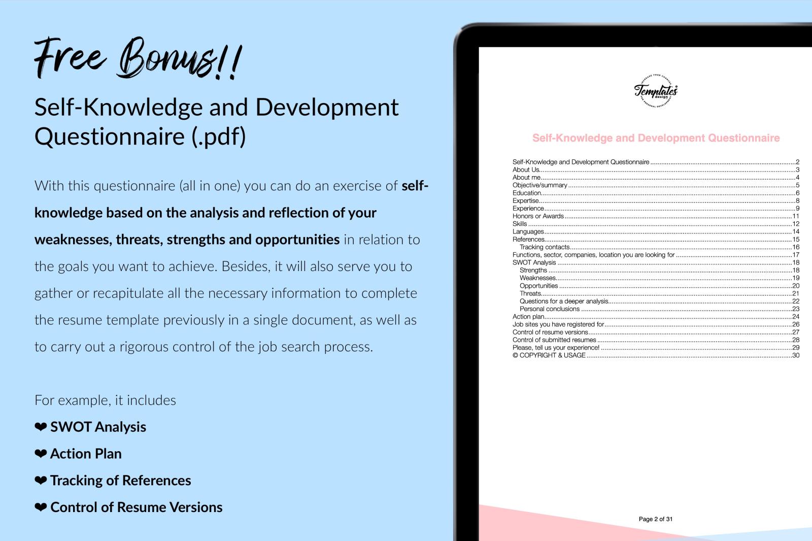 Nurse Resume Template for Microsoft Word & Apple Pages // Adeline Henry CV Design Template