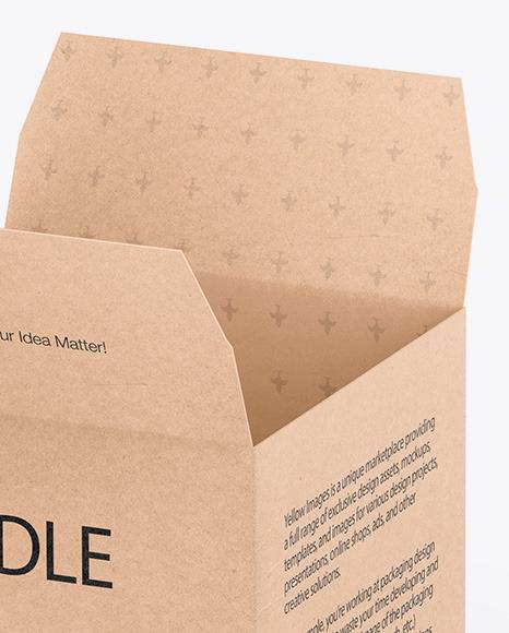 Candle W/ Kraft Box Mockup