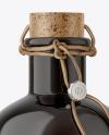 Dark Glass Olive Oil Bottle Mockup