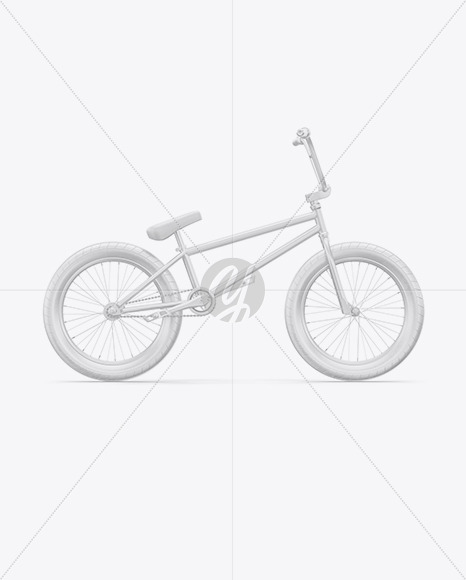 BMX Bicycle Mockup - Right Side View - Yellowimages Mockups