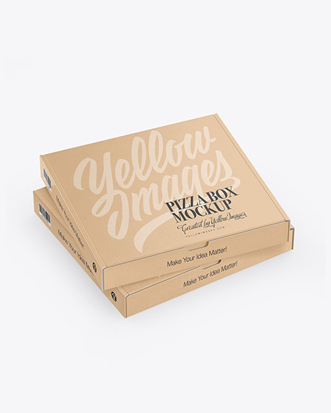 Two Kraft Pizza Boxes Mockup