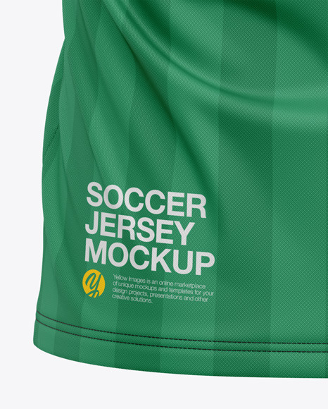 Men's V-Neck Soccer Jersey T-Shirt Mockup - Back View