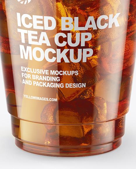 Iced Black Tea Cup Mockup