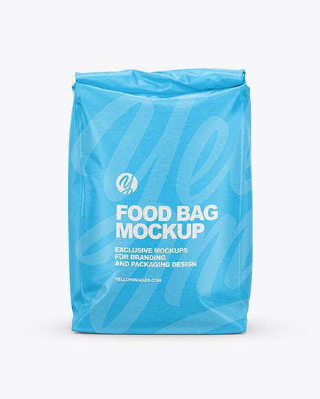 Kraft Food Bag Mockup - Front View