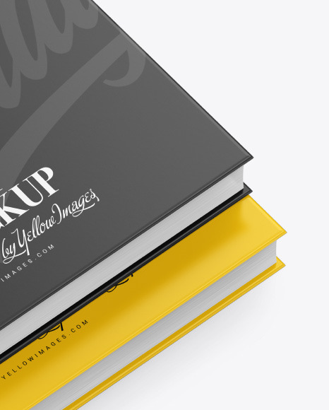 2 Hardcover Book w/ Matte Cover Mockup