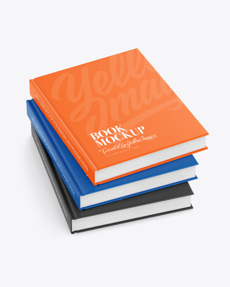 Hardcover Books w/ Fabric Cover Mockup