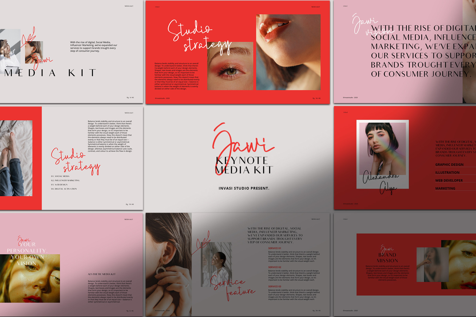 JAWI - Keynote Media Kit Templates