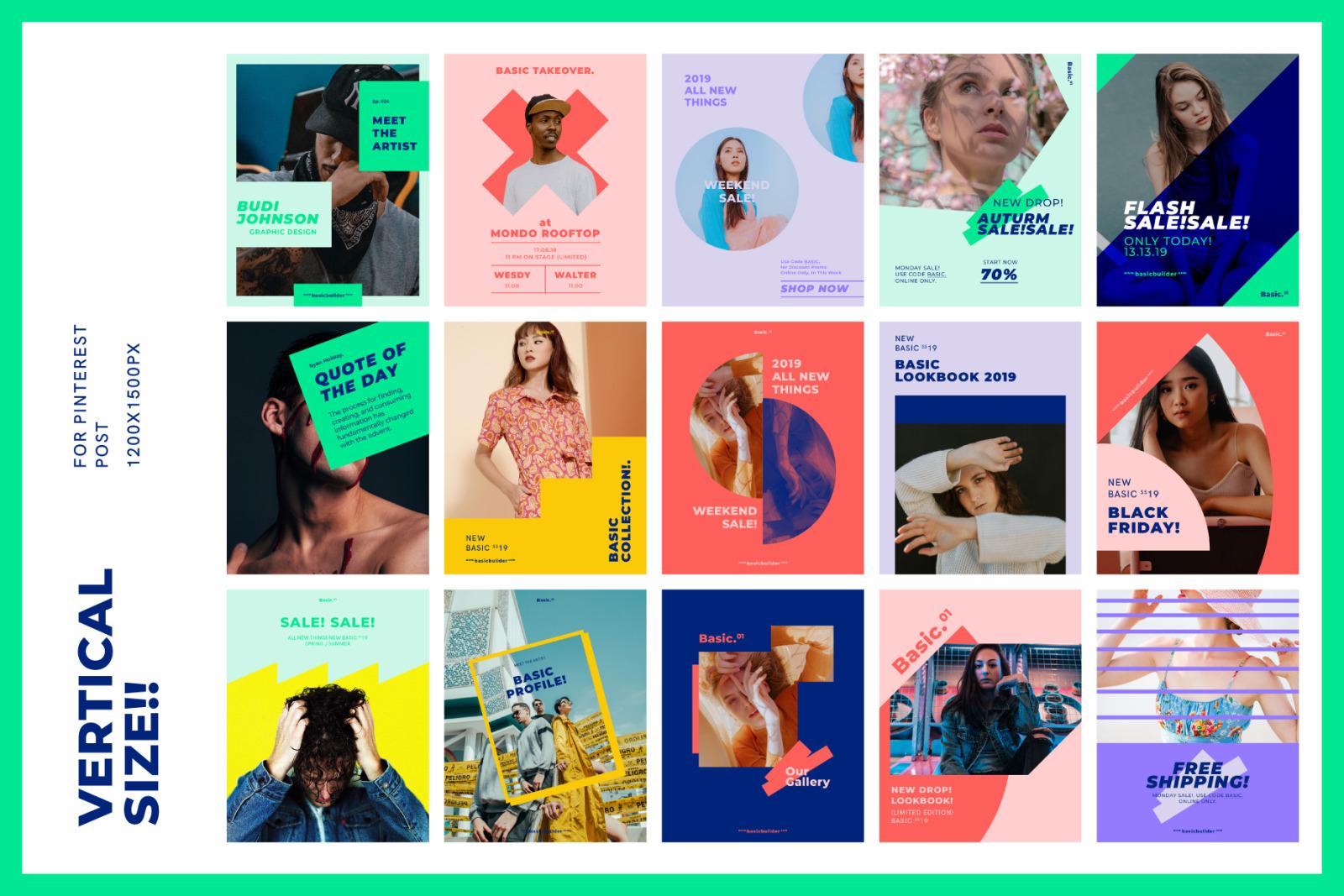 BASIC - Social Media Kit Collection