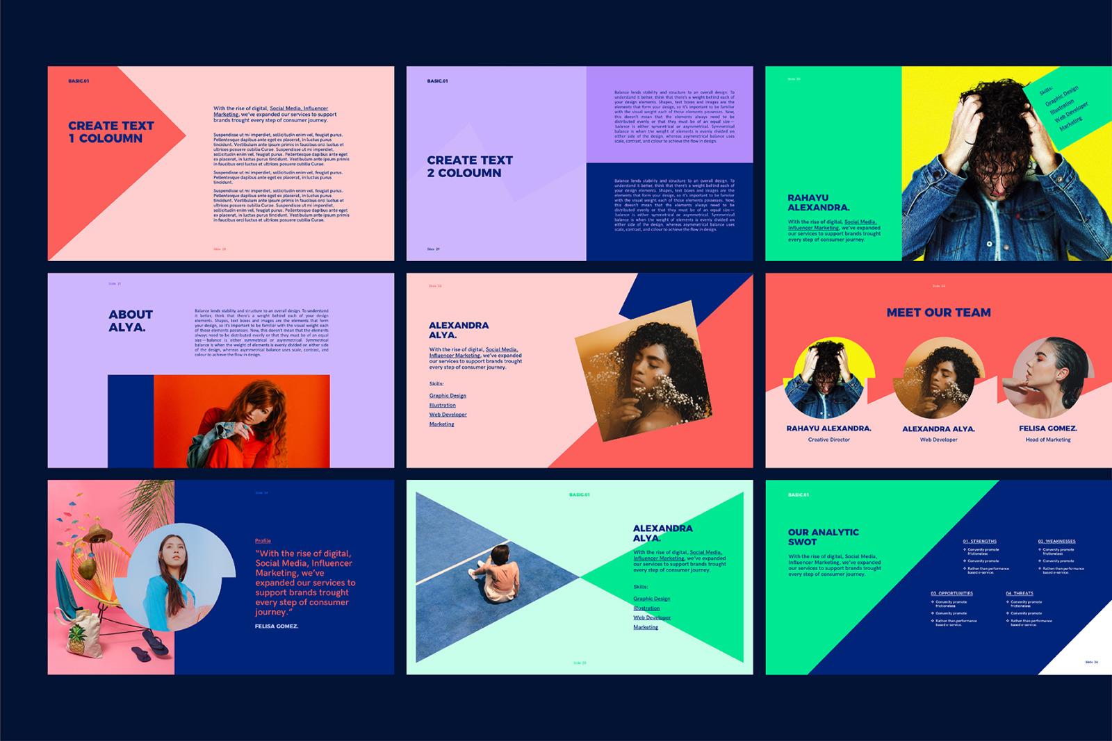 BASIC - PowerPoint Media Kit Templates