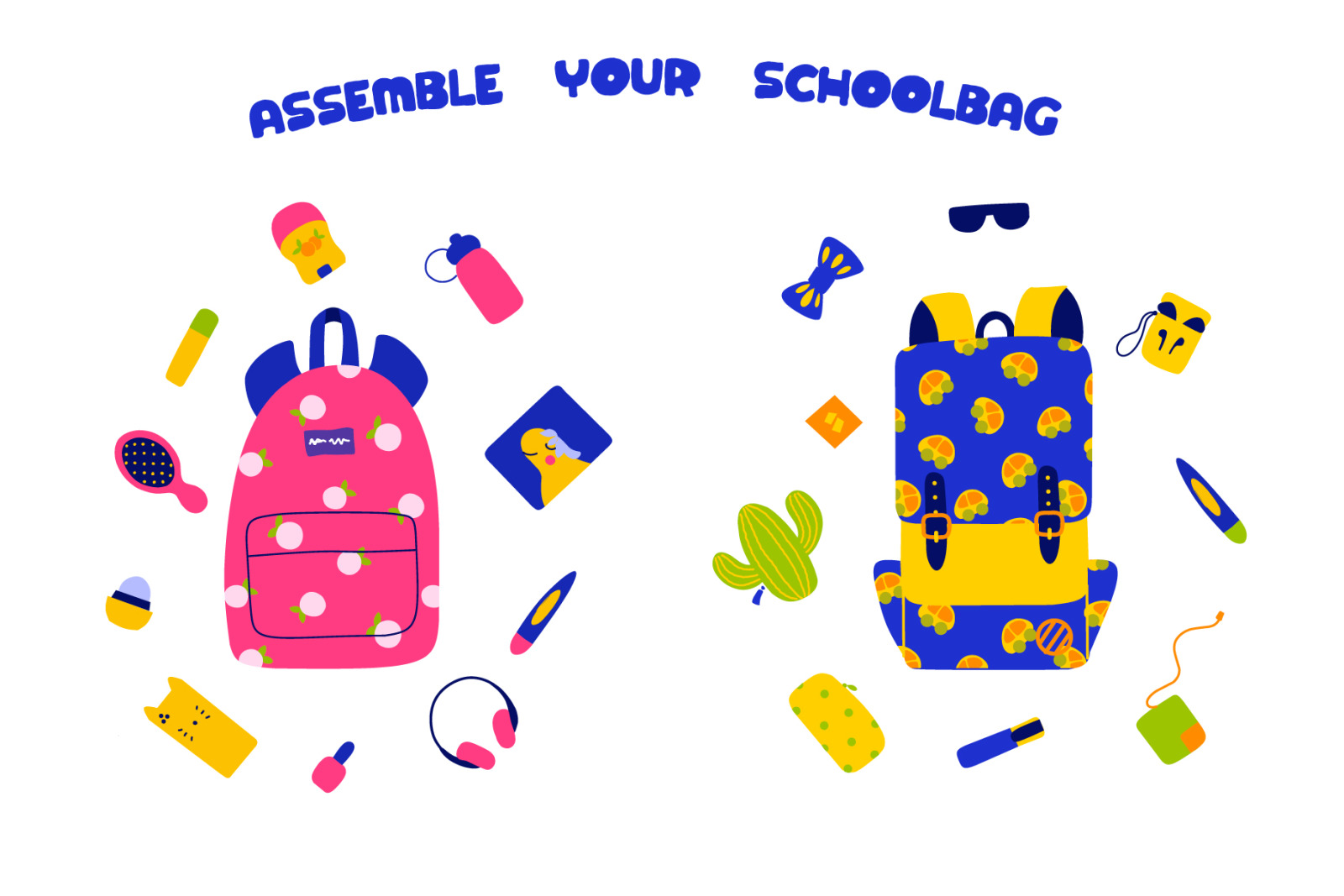 Back to school - cute characters
