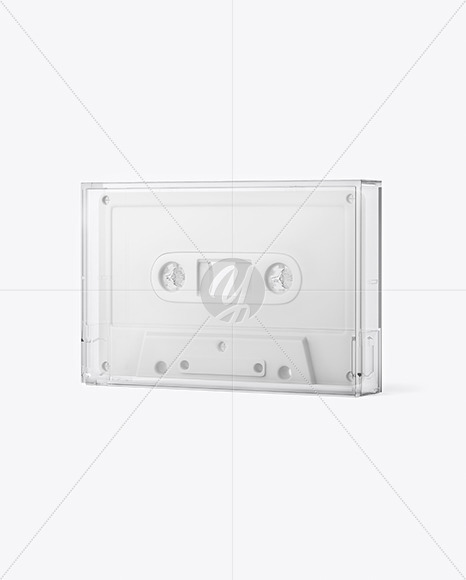Compact Cassette In Case Mockup
