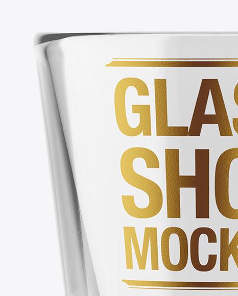 Empty Glass Shot Mockup