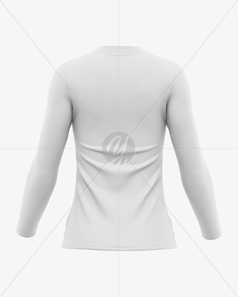 Women's Long Sleeve T-Shirt Mockup - Back View