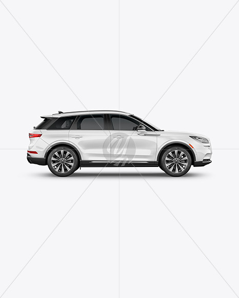 Crossover SUV Mockup – Side View - Yellowimages Mockups