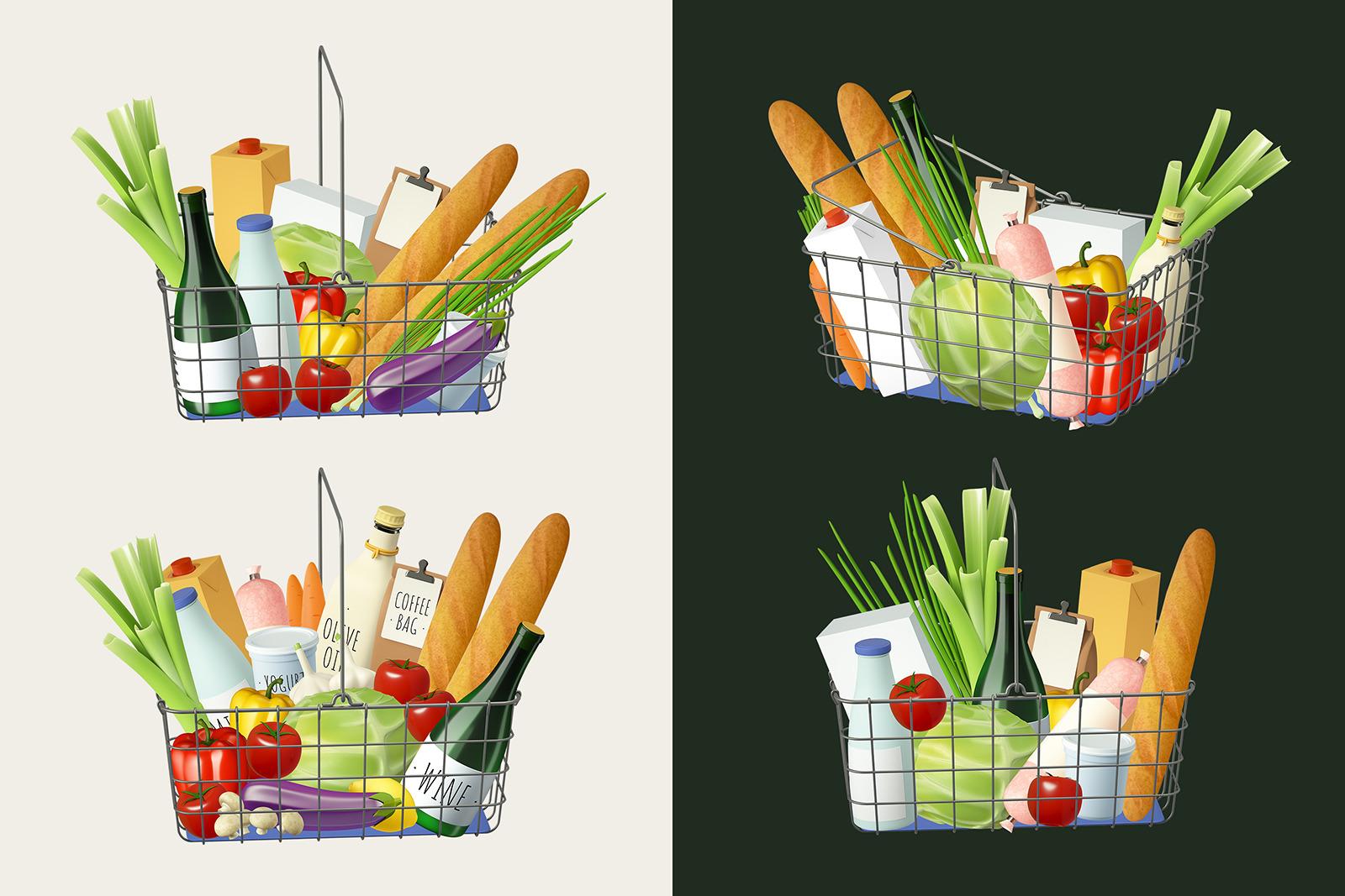 Grocery food set