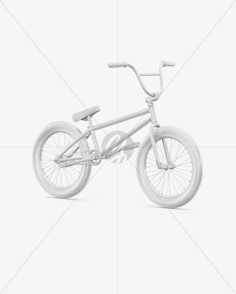 BMX Bicycle Mockup - Half Side View - Yellowimages Mockups