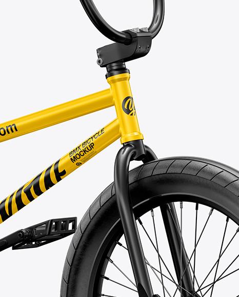 BMX Bicycle Mockup - Half Side View