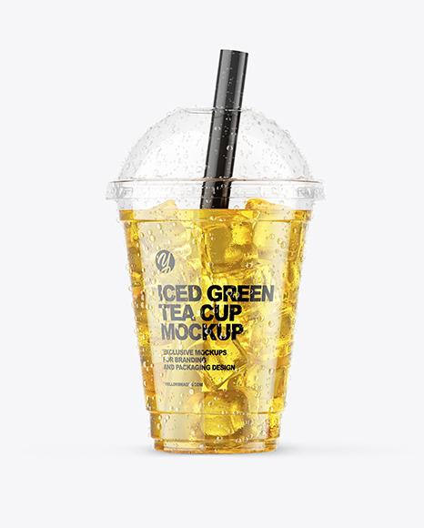 Iced Green Tea Cup Mockup