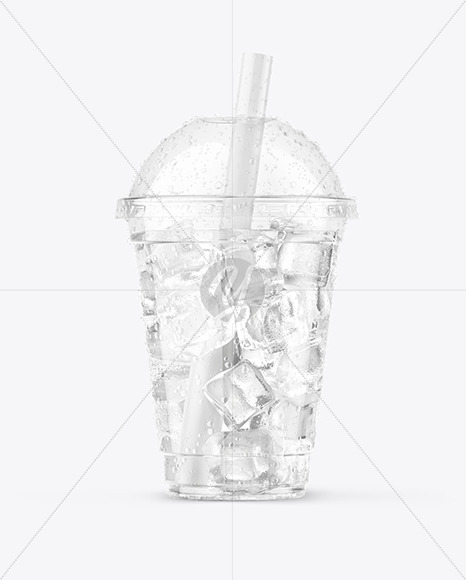 Iced Water Cup Mockup