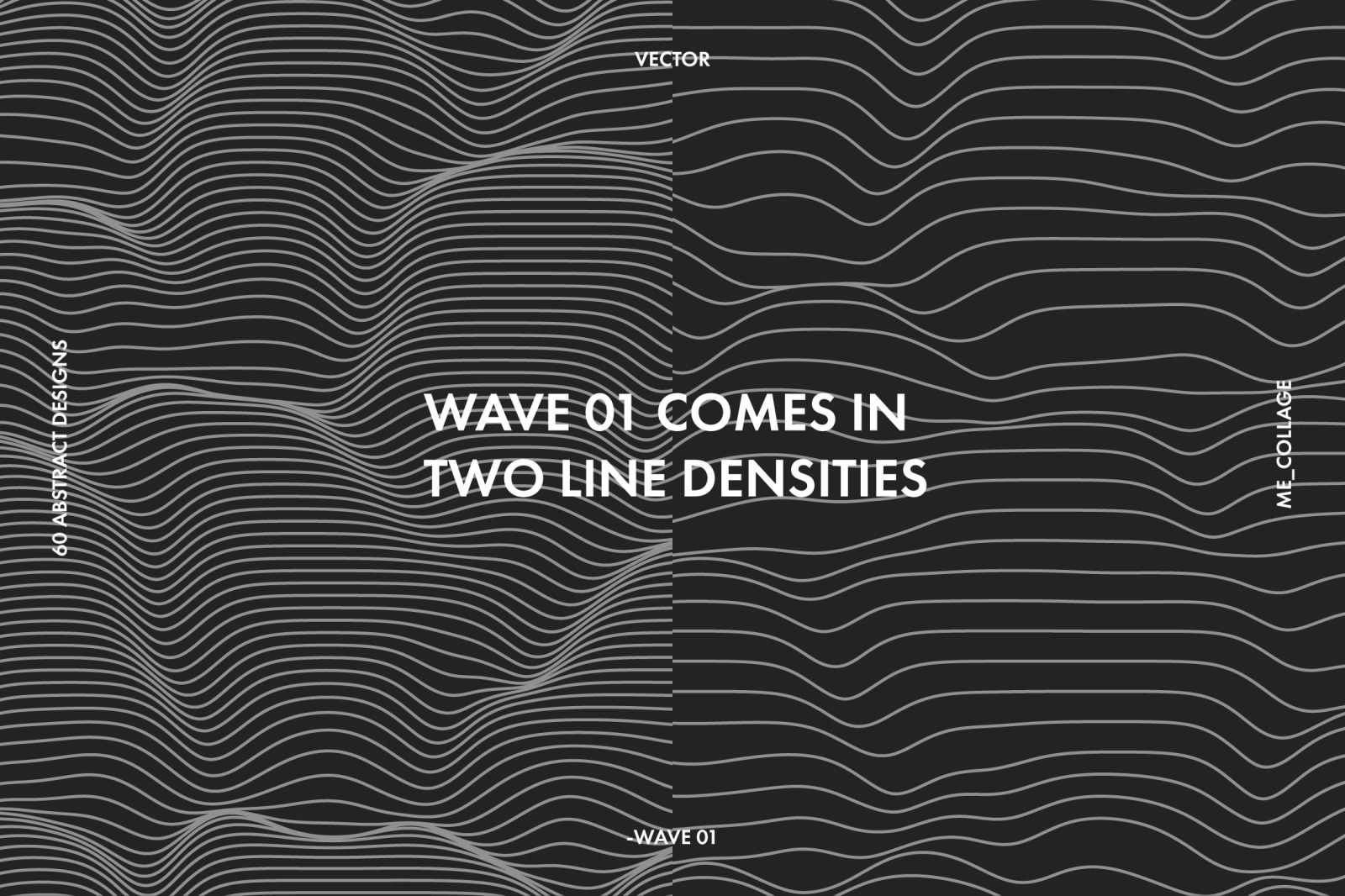WAVE 01 - 60 ABSTRACT VECTOR DESIGNS