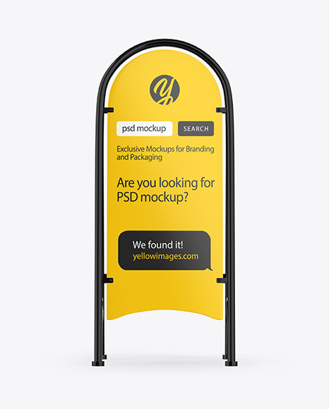 Download Street Stand Mockup In Outdoor Advertising Mockups On Yellow Images Object Mockups Yellowimages Mockups