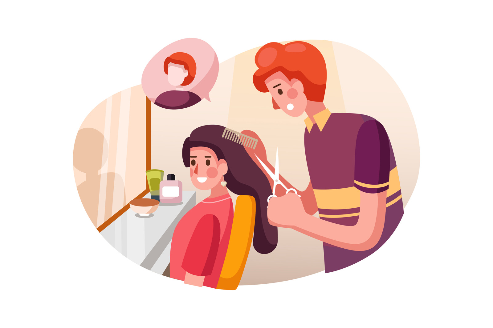 M116_Beauty Salon Illustrations