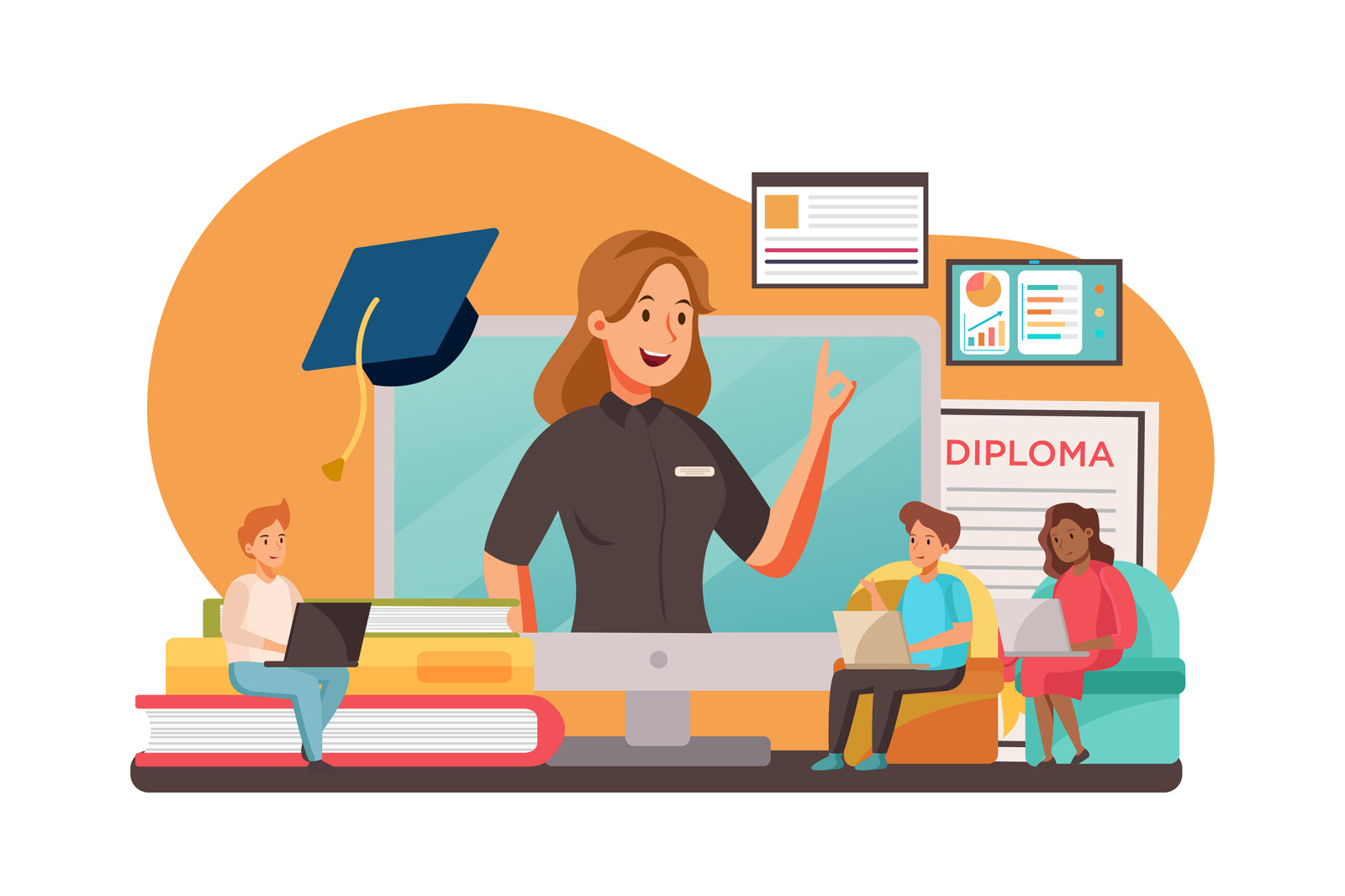 M117_Online Education Illustrations