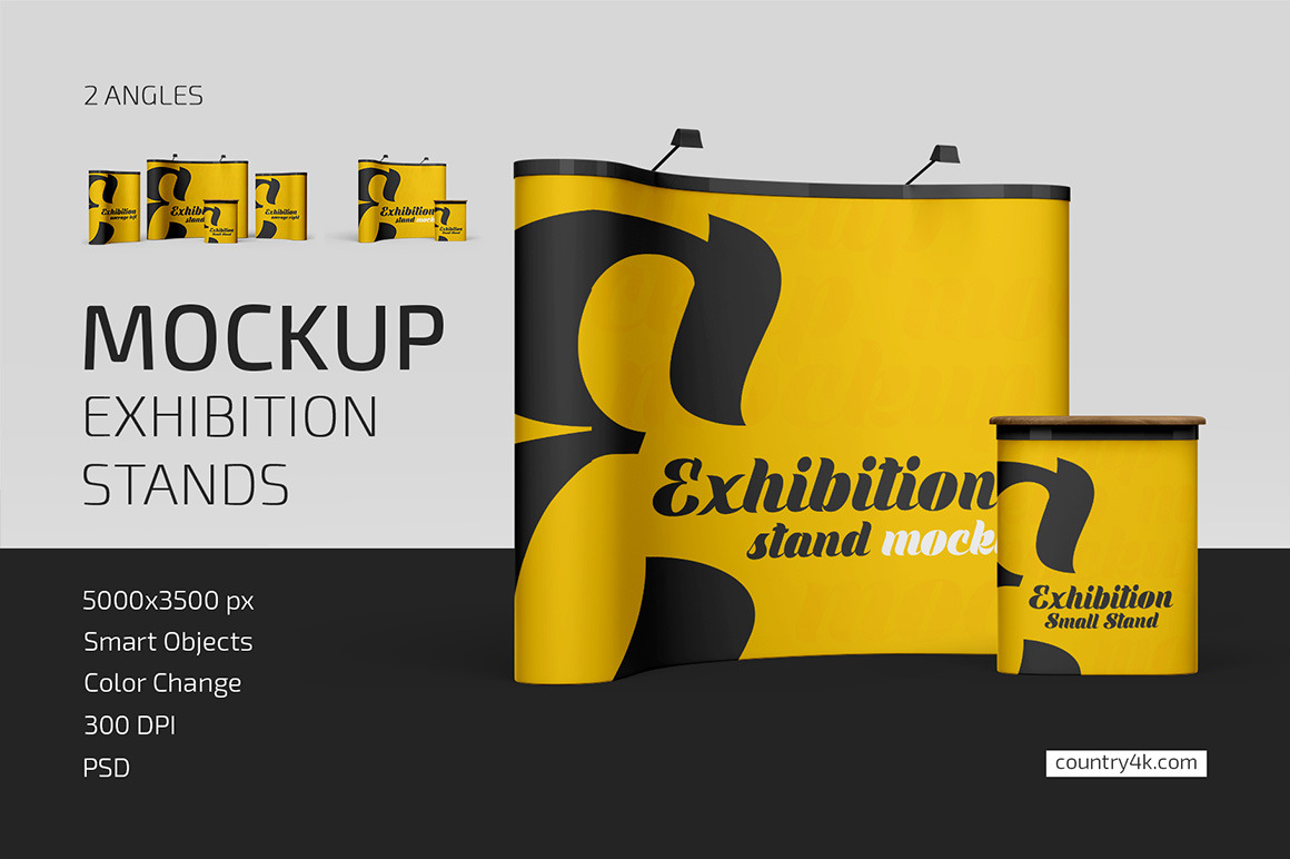 Exhibition Stands Mockup Set
