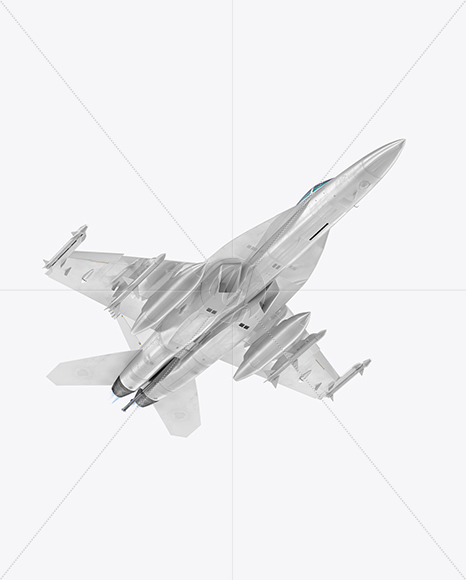 Combat Fighter - Half Side Bottom View - Yellowimages Mockups