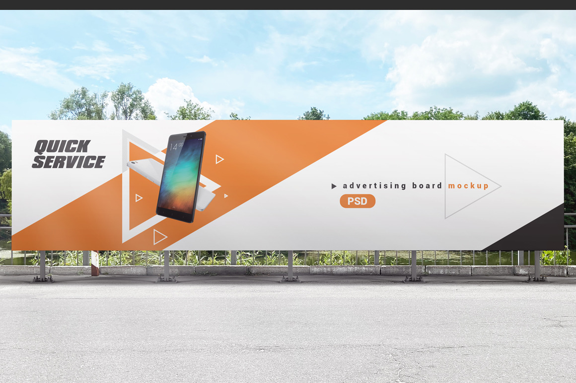 Outdoor Advertising Board / Banner Mockup