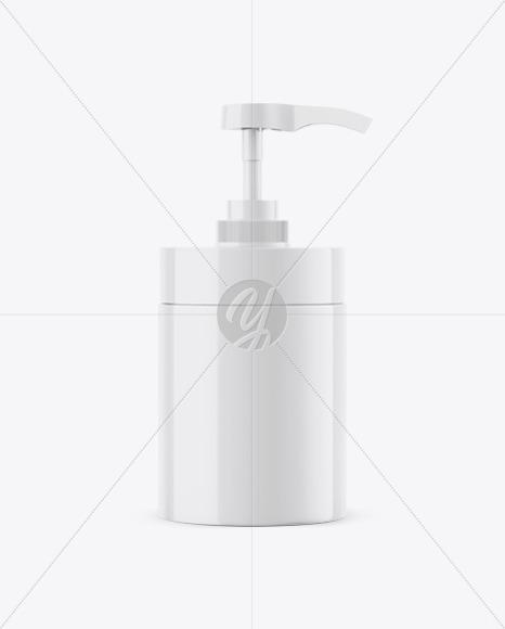 Glossy Plastic Bottle with Dispenser