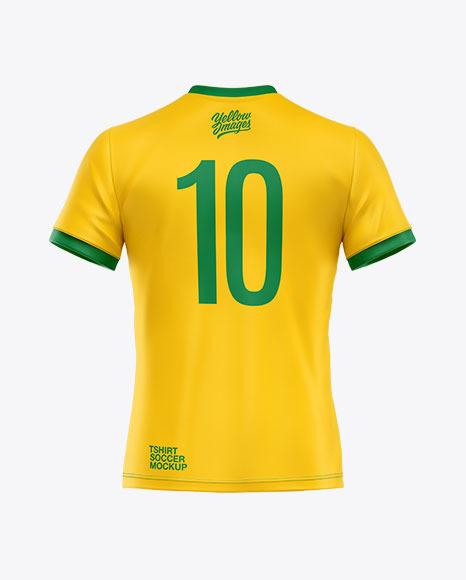 Soccer T-shirt Mockup - Back View