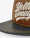 Leather Snapback Cap Mockup
