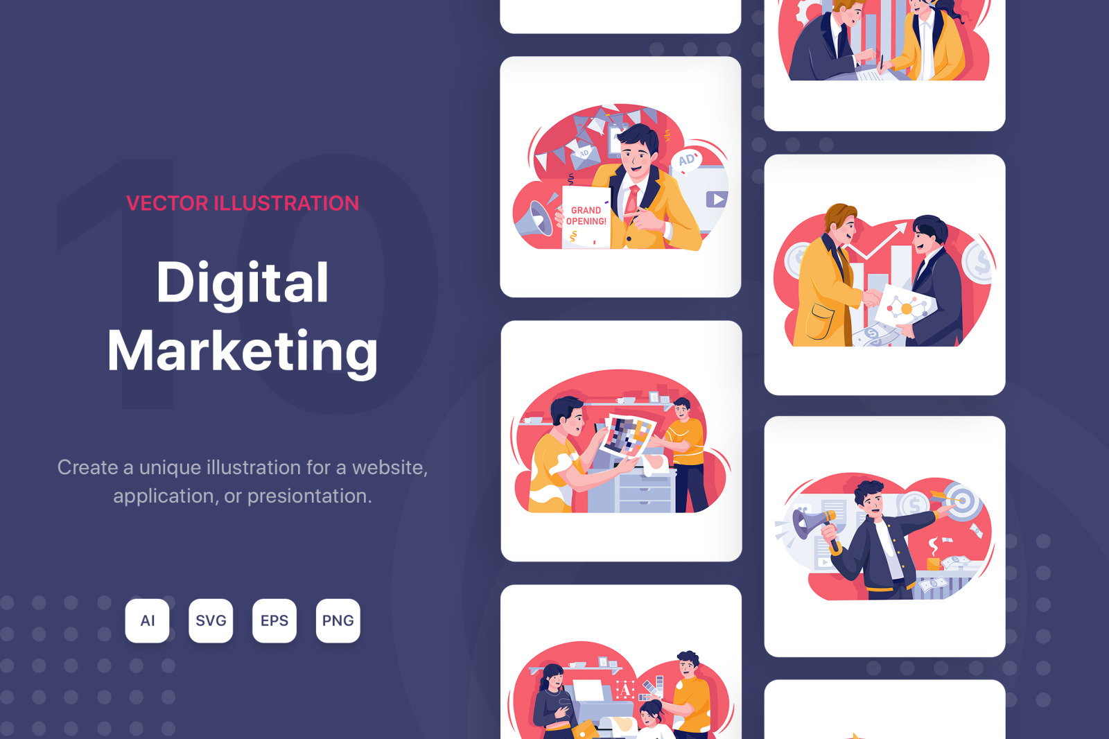 M125_Digital Marketing Illustrations