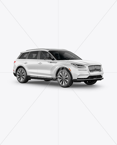 Crossover SUV Mockup – HalfSide View - Yellowimages Mockups
