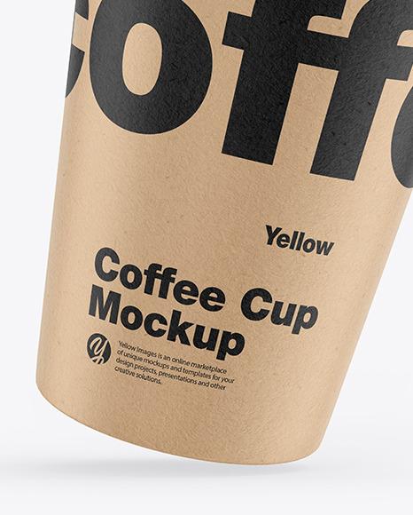Kraft Coffee Cup Mockup
